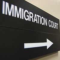 Special appearance in San Francisco Immigration Court